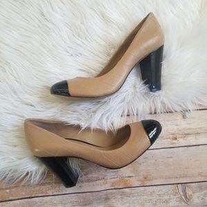 Ann Taylor two tone block heels